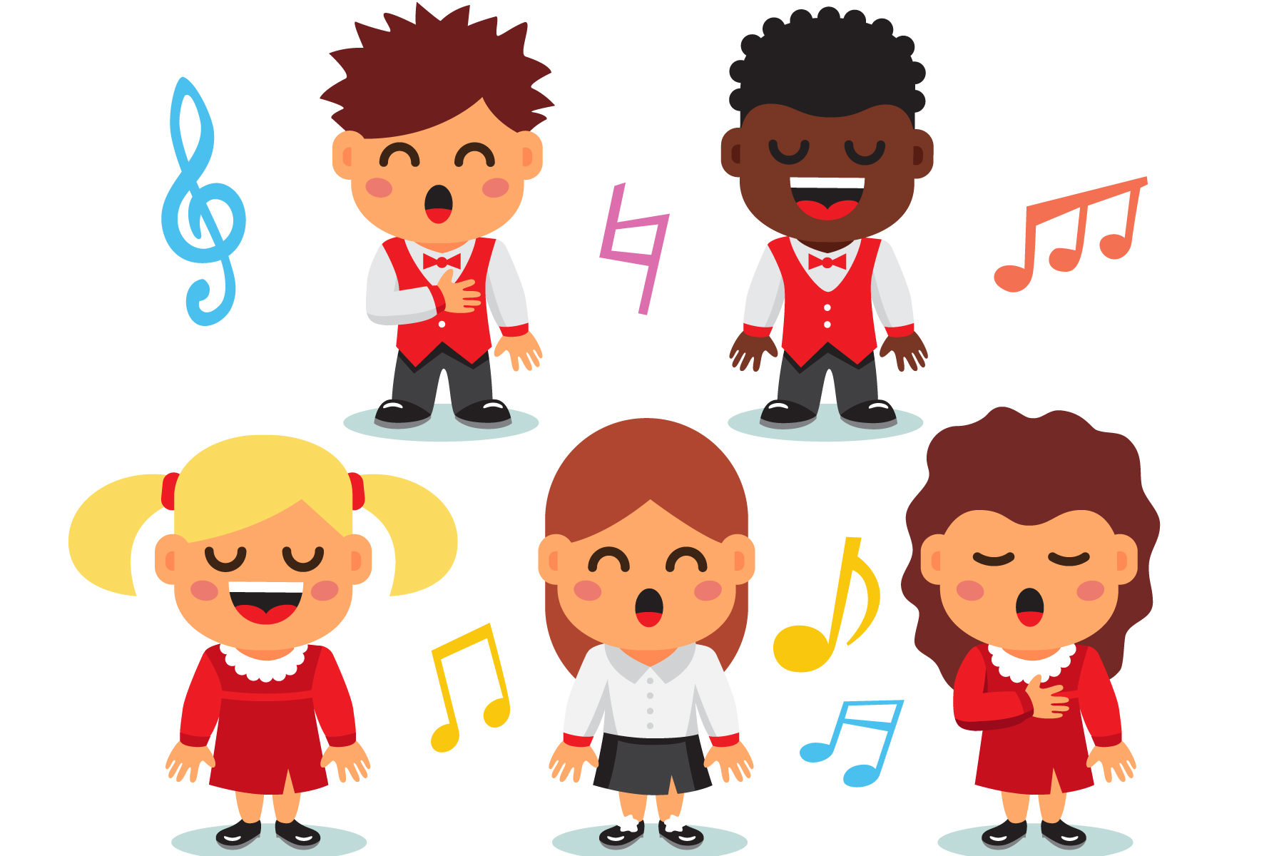 chorale enfant 3regards - Conçu par Iconicbestiary - Freepik.com
